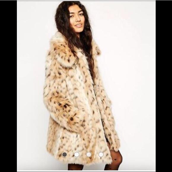 0e3792c8e5a ASOS Jackets   Blazers - ASOS faux fur leopard cheetah long coat